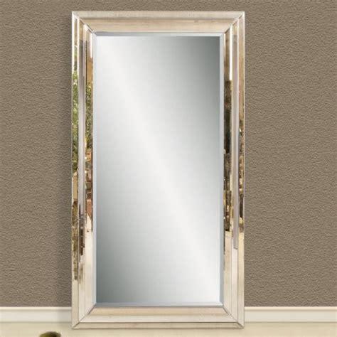 floor mirror leaning modern venetian leaning floor mirror 47w x 83h in modern mirrors by hayneedle