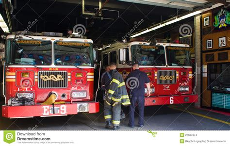 corps de sapeurs pompiers de new york image stock
