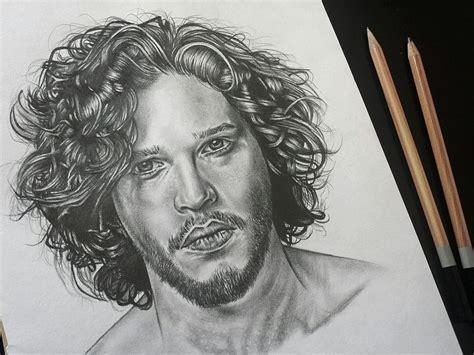 Jon Snow / Kit Harington From Game Of Thrones Pencil