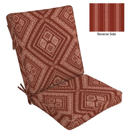 country living westley patio high back chair cushion