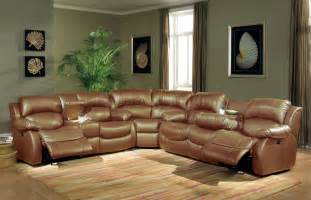 Patio Sets Under 300 by Leather Sectional Sofa With Recliners In Brown