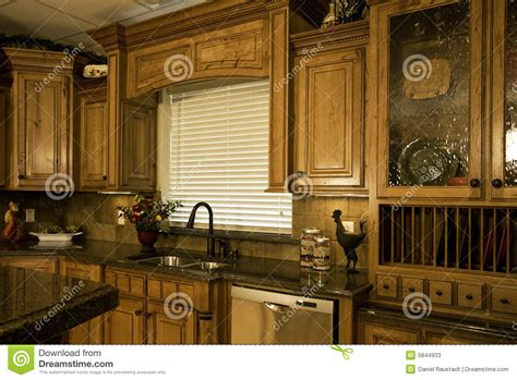 organized luxury kitchen stock image image
