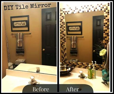 Tile Bathroom Mirror Frame by 25 Best Ideas About Tile Mirror Frames On
