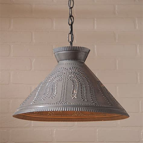 roosevelt punched tin willow shade light  irvins