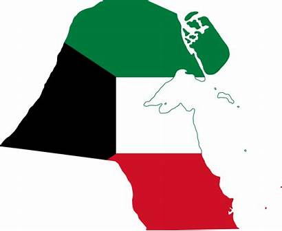 Kuwait Flag Map Svg Islands Commons Wikimedia