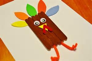 thanksgiving turkey craft sticks craft for