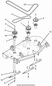 Gravely 992236  030000 - 039999  Pro-turn 460 Parts Diagram For Deck  Belts And Blades