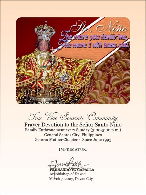 santo nino novena booklet mary mother  jesus mercy