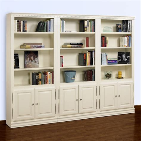 Wall Bookcases by A E Hton 84 Inch Wall Bookcase With Doors Bookcases