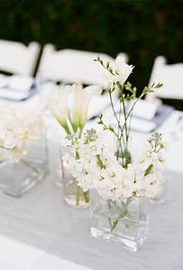 Simple Floral Wedding Centerpieces | White centerpiece ...