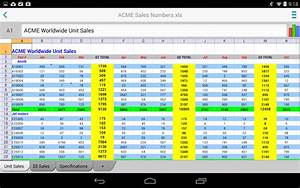 4 microsoft excel for android alternative do your task With documents to go excel