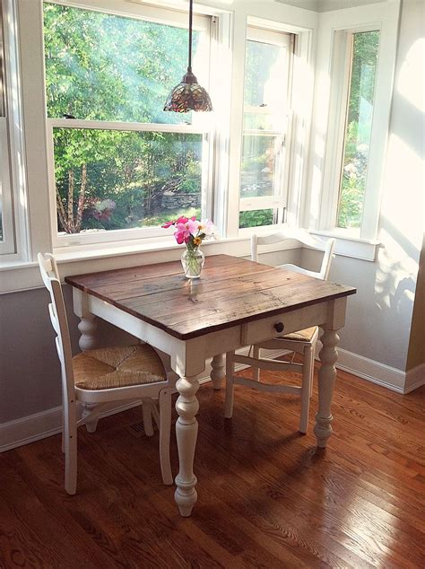 the perfect breakfast nook petite farm table made with a