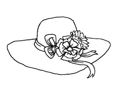 dibujo de sombrero con flores para colorear dibujos net