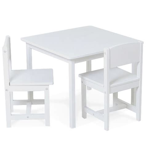 Kidkraft Table Two Chair Set kidkraft aspen wood table 2 chair set white