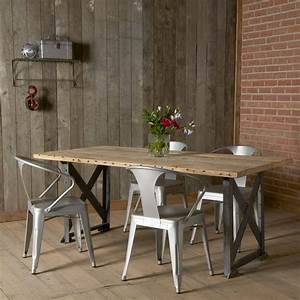 industrial dining room table bombadeaguame With vintage industrial dining room table