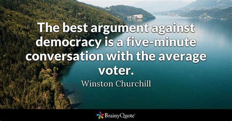 argument  democracy    minute