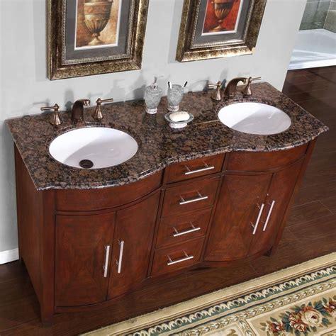 double sink granite countertop 58 quot granite stone countertop double bathroom white sink