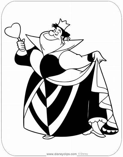 Coloring Pages Queen Hearts Popular Wonderland Alice