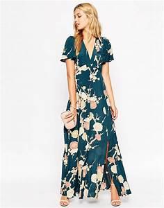 asos asos wedding maxi dress with wrap front in floral With floral maxi dress for wedding