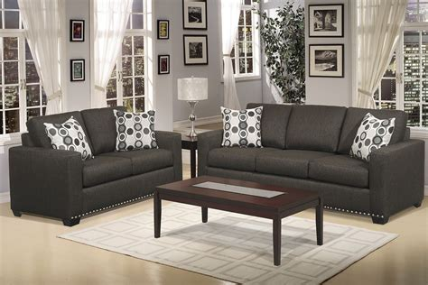 dark gray couch hills collection  pcs living room sofa