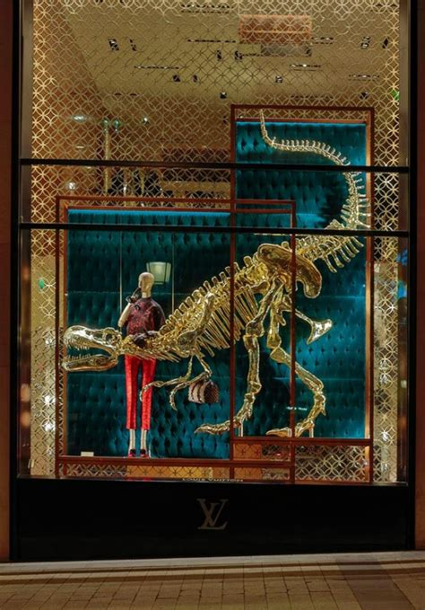 natural history window display  louis vuitton  window displays