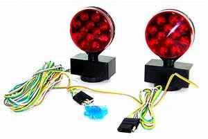 Magnetic Tow Truck Lights Kit 12 Volt Trailer Towing 12v