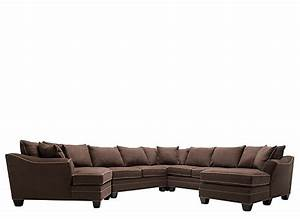 Foresthill 5 pc microfiber sectional sofa chocolate for 5 pc microfiber sectional sofa
