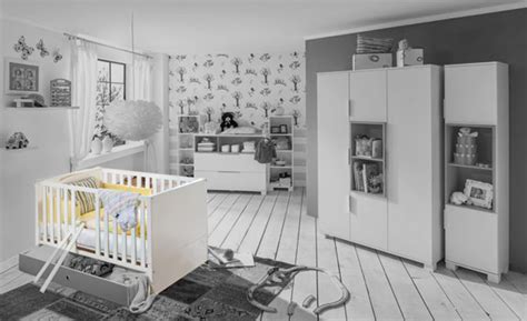 chambre bébé blanche et grise lit bebe joris chambre bebe blanc gris