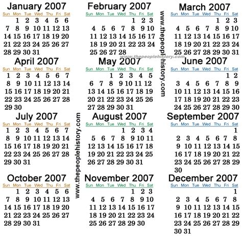 2007 Calendar  Search Results  Calendar 2015