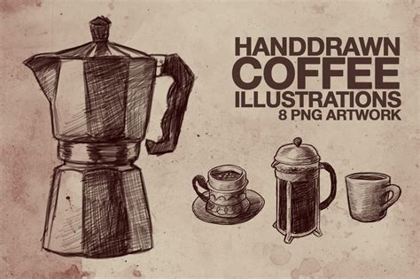 Download coffee illustration images and photos. Hand Drawn Coffee Illustrations ~ Illustrations on Creative Market