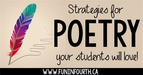 Strategies For Poetry Your Students Will Love  Fun In Fourth