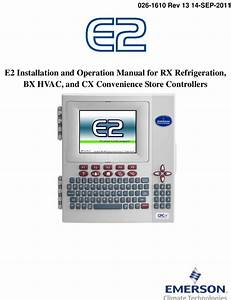 Emerson E2 Users Manual User