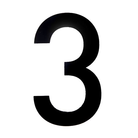 Ideas For Kitchens - black pvc 250mm house number 3 departments diy at b q