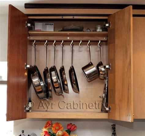 pots and pans rack cabinet pot rack hidden inside cabinet kevin amanda