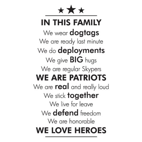 military   family wall quotes decal wallquotescom