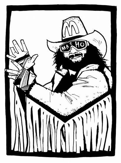 Macho Savage Randy Mardi Gras Sketches