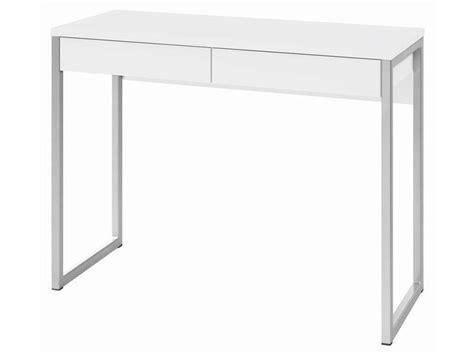 ordinateur de bureau neuf pas cher bureau 2 tiroirs leny coloris blanc vente de bureau