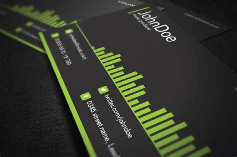 creative dj business card templates psd