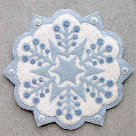 Felt Applique Patterns by Snowflake 2 Designandbemary