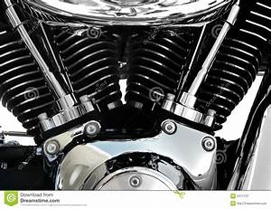 Motorcycle Engine Chrome Stock Image  Image Of Charger