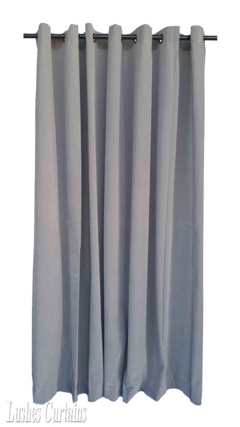 120 Inch Grommet Curtain Panels by Gray 120 Inch Velvet Curtain Panel W Ring Grommet Top