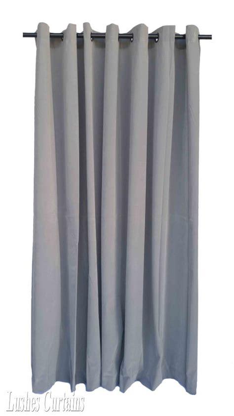 120 Inch Drapes - gray 120 inch velvet curtain panel w ring grommet top