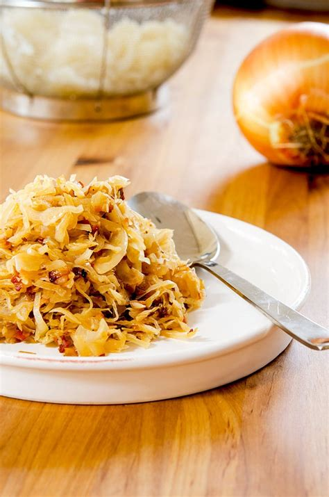 sauerkraut recipes a super easy sauerkraut recipe i d rather be a chef