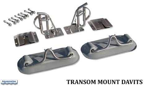 Zodiac Boat Davits by Transom Mount Davits For Inflatable Boat Dinghy Transom