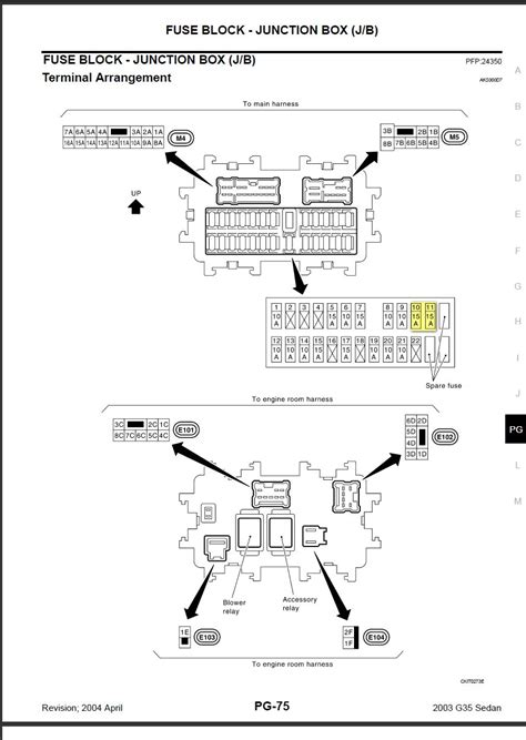 2003 G35 Fuse Box Location by Fuse Box For 2003 Infiniti M45 Wiring Diagram