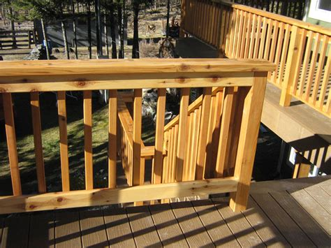 building wood deck railing