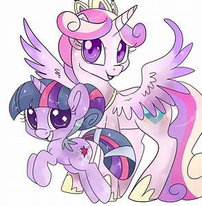 Crystal Filly Twilight and Princess Cadance | My Little ...
