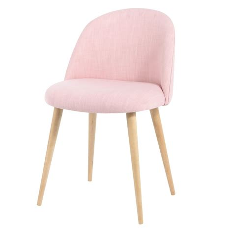 chaise coiffeuse pink fabric vintage chair mauricette maisons du monde