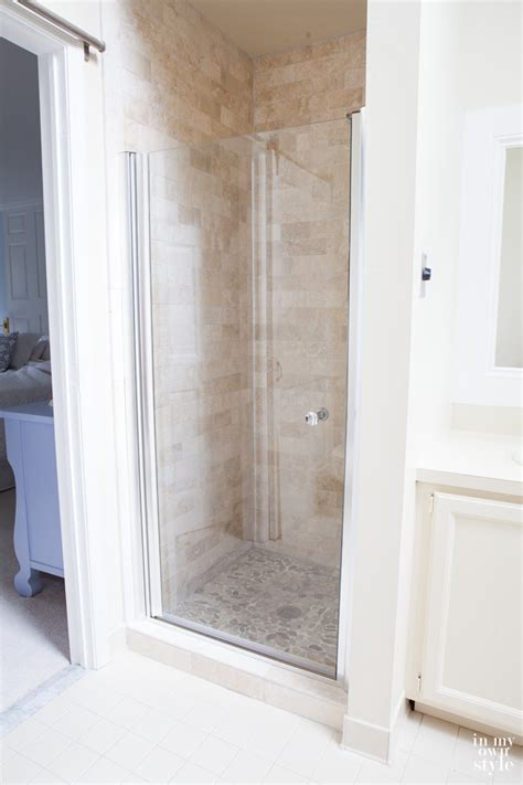 bathroom shower ideas on a budget master bath shower makeover in my own style