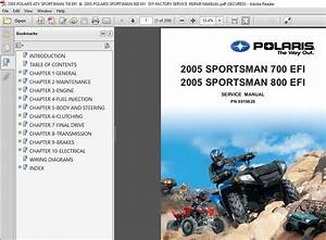 2005 Polaris Atv Sportsman 700  U0026 800 Efi Diy Factory